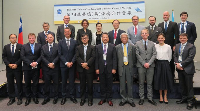 Participants at the Taiwan-Sweden Joint Business Council Meeting 2018 in Taipei. Photo: Business Sweden