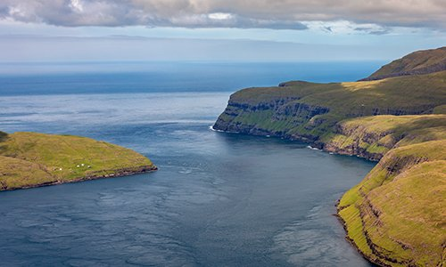 Picture of the Vestmannasund strait in the Faroe Islands. Photo: SEV