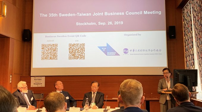 Mei-Hua Wang, Deputy Minister of the Ministry of Economic Affairs of Taiwan kicking off The 35th Sweden-Taiwan JBC Meeting