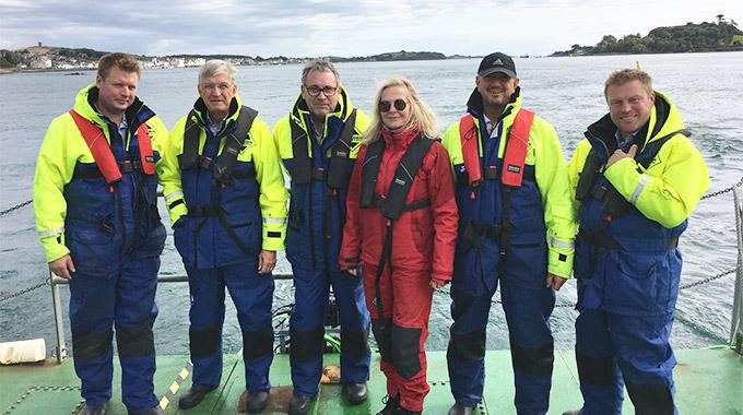 Minesto's Board of Directors visits the test and demonstration facilities in Strangford Lough, Nortern Ireland, where Minesto conducts ocean testing of its unique tidal energy technology Deep Green.