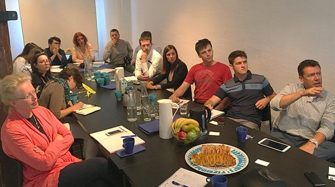 Study visit by EU project Maestrale at Minesto's headquarters in July, 2017