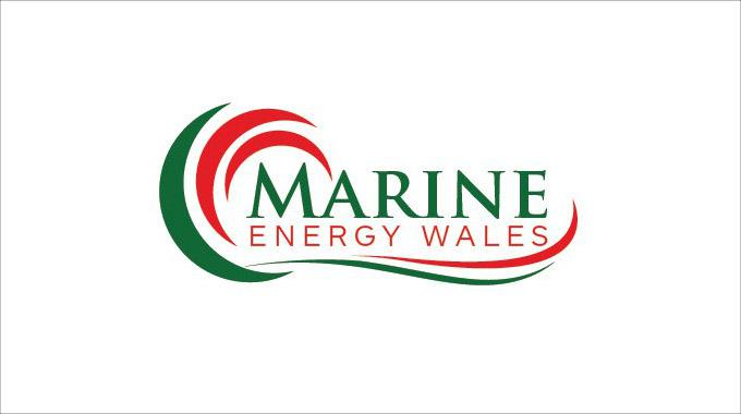 The logotype of Marine Energy Wales.