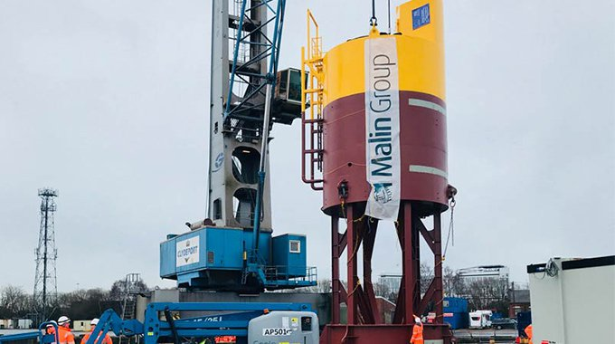 The micro grid system buoy for Minesto's first Deep Green tidal energy installation in Wales.