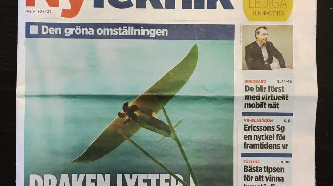 Deep Green on the front cover of Ny Teknik, Swedens largest tech journal